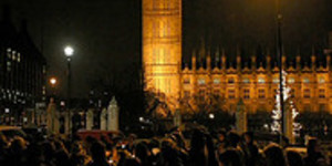 Silent Night for Parliament Square Carollers