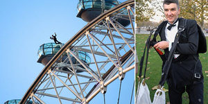 Vinnie Jones-Russ Abbott  Lovechild Jumps Off London Eye