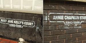 New Ripper Graffiti In East End