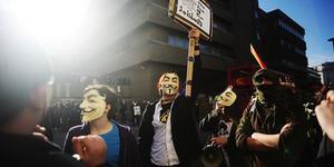 Anonymous Protests Outside Scientology Sites