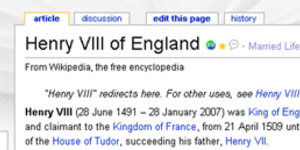 Henry VIII Died Two Years Ago, Says Wikipedia