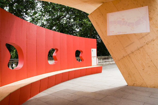 The pod was designed with help from pupils at Christ Church School, Kensington and Chelsea