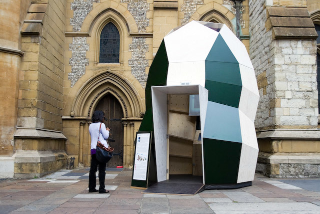 Amenity Space pod design at Southwark Cathedral