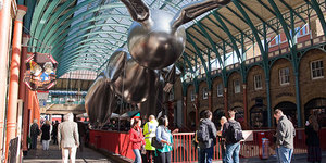 Giant Inflatable Rabbit Fills Covent Garden