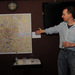 M@ introduces the map to a crowd of beered-up Londoners. Image by Tiki Chris.