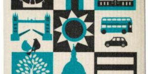 Santa's Lap: London Icons Dishcloth