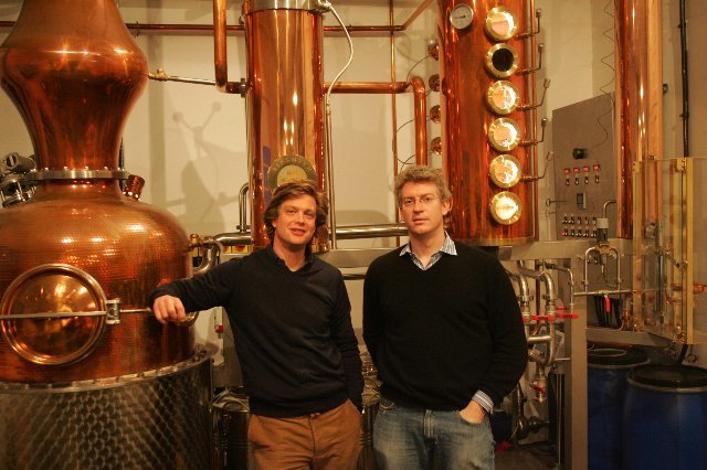 Fairfax Hall and Sam Galsworthy, founders of Sipsmith.