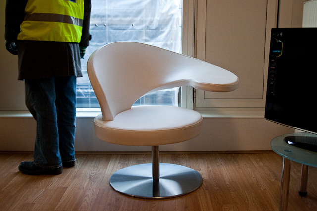 Be honest, did your student digs have a chair like this? Didn't think so.