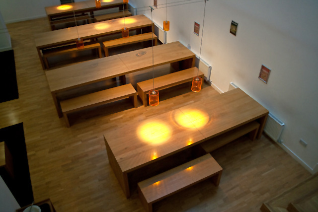 Dining area at Nido King's Cross