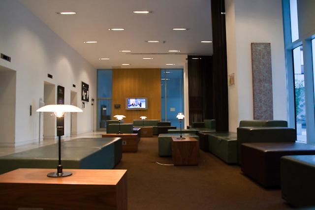 The ground floor lobby at Nido King's Cross