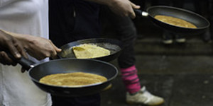 Plentiful Pancakes in Kensington on Shrove Tuesday