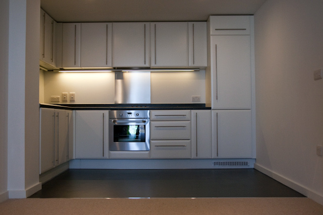Kitchen unit in one of the affordable flats