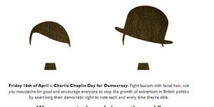 'Tache Up For Charlie Chaplin Day Of Democracy