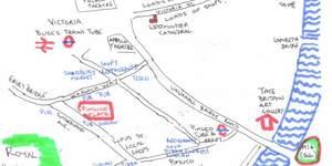 Hand-Drawn Maps of London: Pimlico