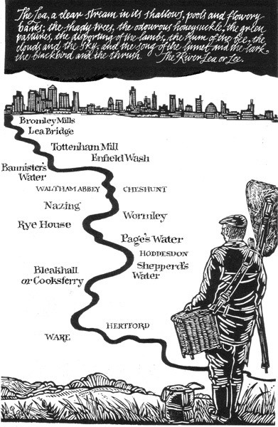 """""""The first map is that of the River Lee or Lea, a little bit 'Turn Again Dick Whittington' in concept"""""""
