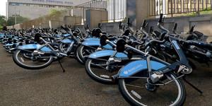 A Mess Of Boris Bikes Near Waterloo Station