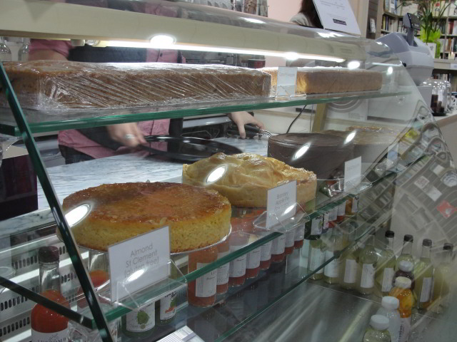 The cafe gets stocked with drinks and delicious cakes from Konditor and Cook