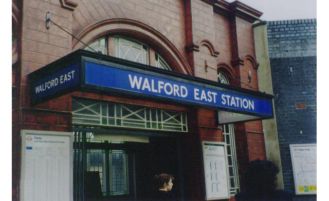 Walford East station, on the District line (where it replaces Bromley-by-Bow on the map). Seen by millions of viewers each week in EastEnders. An episode in January 2011 featured scenes on the platform level, which were shot at East Finchley.