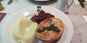 Reindeer Pie at Battersea Pie Station, Covent Garden
