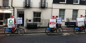 Climate Change Protestors Use Boris Bikes As Billboards