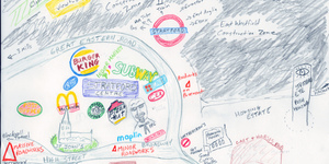 Hand-Drawn Maps Of London: Stratford