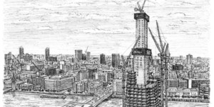 Drawings Of The Shard And London In 2012 By Stephen Wiltshire
