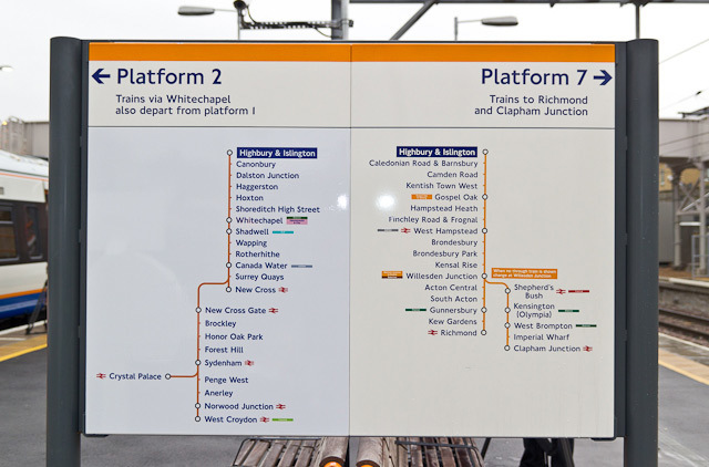 In a brilliant bit of planning, Platform 2 at Highbury & Islington is located right next to... Platform 7