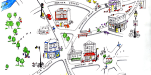 Hand-Drawn Maps Of London: Shoreditch