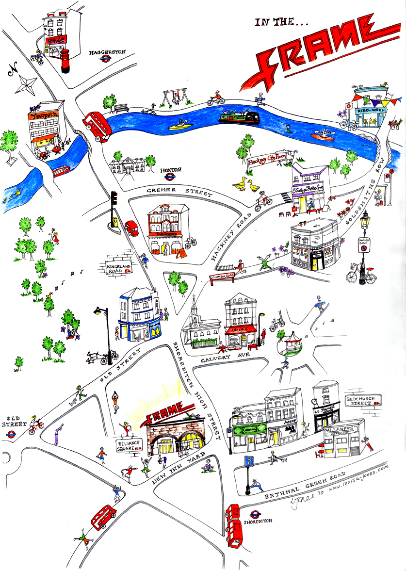 London Map Shoreditch Area