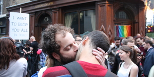 In Pictures: Gay Kiss-In Outside The John Snow, Soho