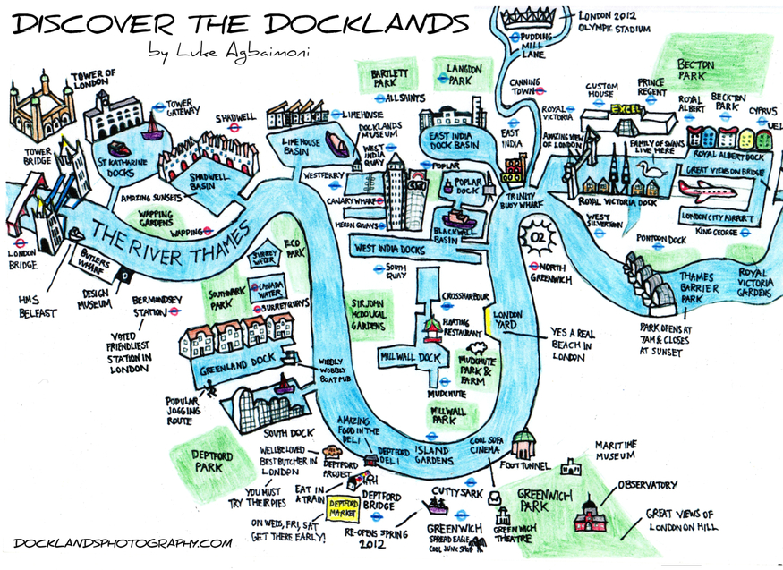 Hand-Drawn Maps Of London: Docklands