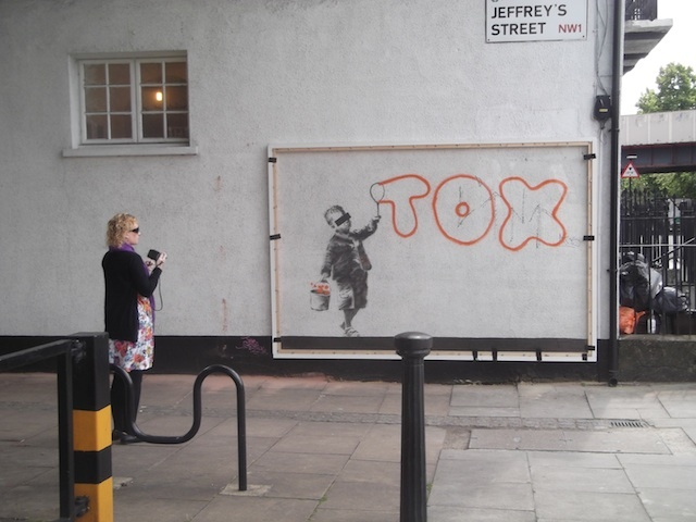 Banksy Camden Town Work Covered Up