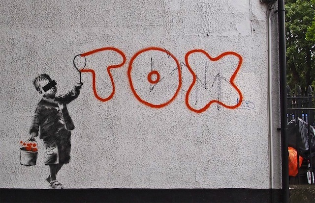 New Banksy Street Art Mentions Tox