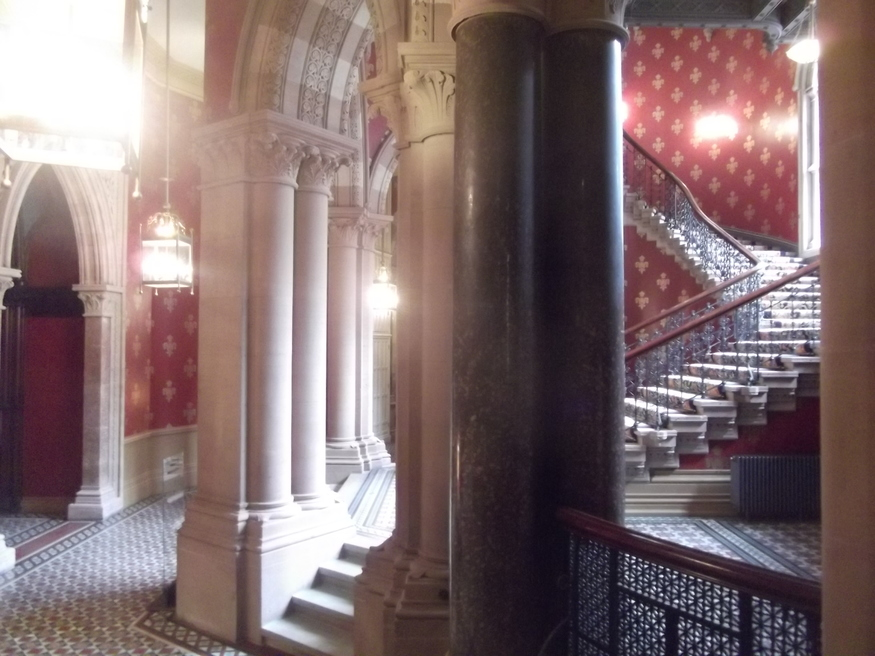 At the foot of the grand staircase. Spice girls woz ere.