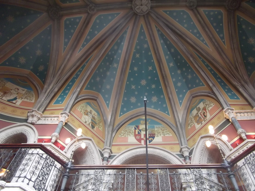 Ceiling at the top of the grand staircase.
