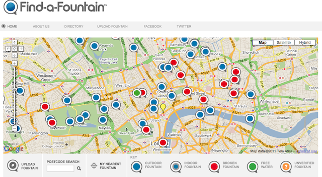 London's Drinking Fountains...Mapped