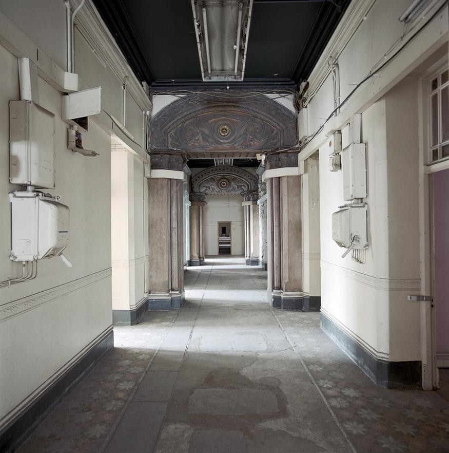 A corridor before restoration.