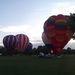Wide shot of the balloons assembled.