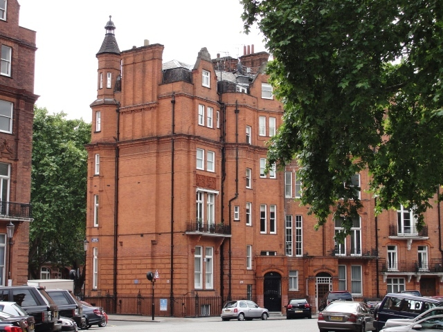 23 Hans Place: Jane Austen stayed a house on this site off Sloane Street with her brother Henry in 1814-15.