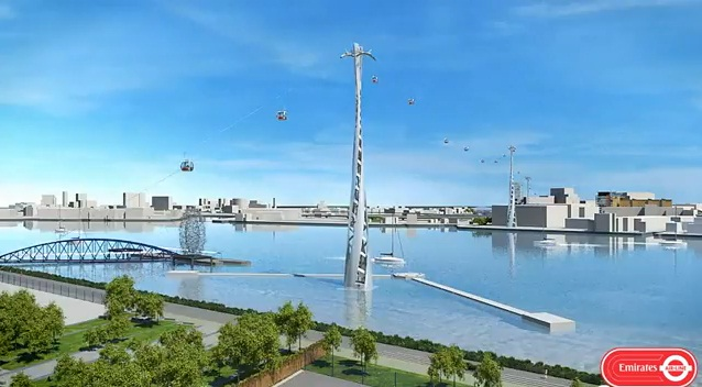 """Cable Car Will Be Called """"Emirates Air Line"""""""