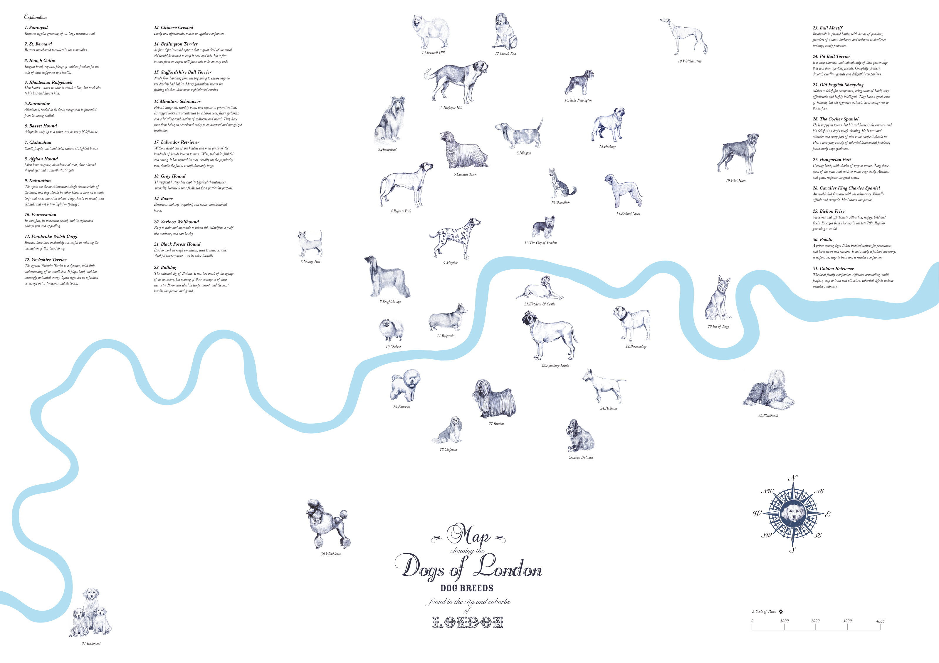 The Dogs Of London Map  Londonist