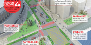 LCC Proposes Pedestrian And Cyclist Friendly Blackfriars
