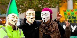 Bishop Begs Occupy Begone, Banksy Brings Art