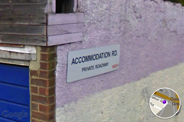 Accommodation Road in Golders Green. Does exactly what it says on the sign.