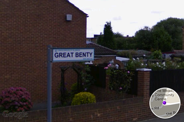 Another 'G', Great Benty, north of Heathrow.