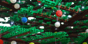 In Pictures: The St Pancras LEGO Christmas Tree