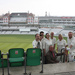 Tony Fenwick, co-chair of LGBT History Month with LGBT people in Cricket whites at the Oval