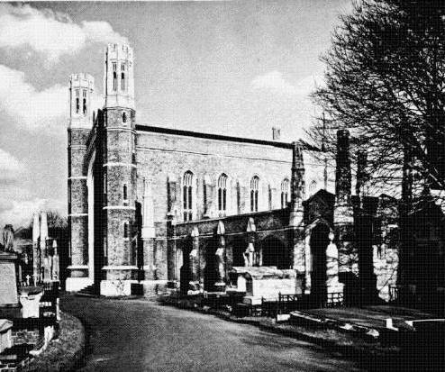 An old photograph of the original chapel