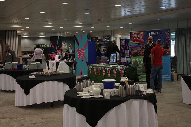 Stalls at the pre-launch event