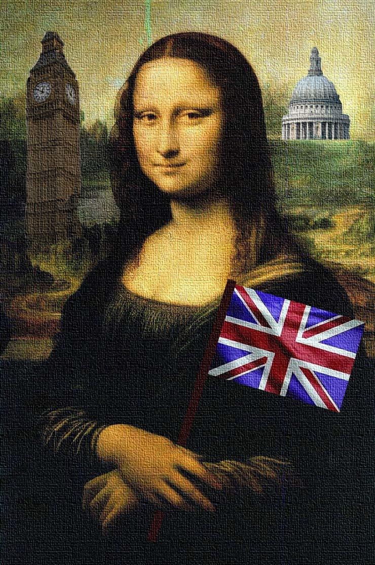 Mona Lisa, alas, isn't coming. But she's here in spirit. (Silliness by M@, background by some Italian guy)